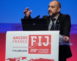 IFJ general secretary Anthony Bellanger